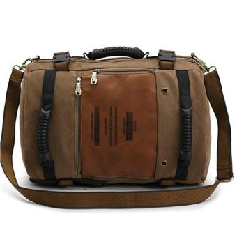 ... Harga Terbaru KAUKKO FH09 Men Multipurpose Canvas Large Shoulder Bag Backpack Dark Khaki intl
