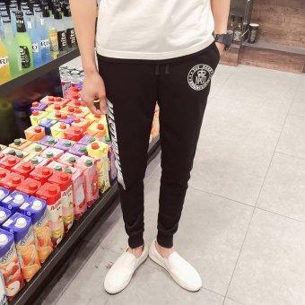 ZUNCLE Men's Casual Long Style Slim Feet Pant(Black)