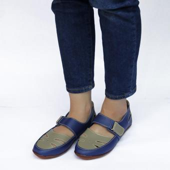 Yutaka Flat Shoes Biru Krem