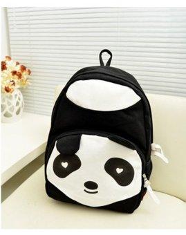 harga niceEshop kanvas sederhana bentuk panda tas sekolah ransel perjalanan, Hitam Lazada.co.id