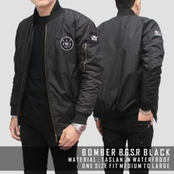 116store Jaket Bomber BGSR Simple (Black)
