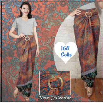 Harga Terbaru 168 Collection Rok Maxi Lilit Fransisca Batik-Orange
