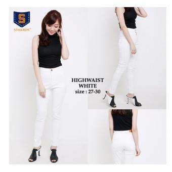 Harga Terbaru 168 Collection Celana Whitely Jeans Pant-Putih
