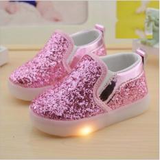 Import Sepatu Lampu LED Blink untuk anak perempuan - Pink