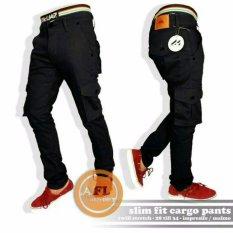 IMPRESIF Celana pria model cargo panjang / pdl / celana gunung - ( Hitam )