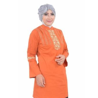 inara house - blous manet Mb 024 - orange - L