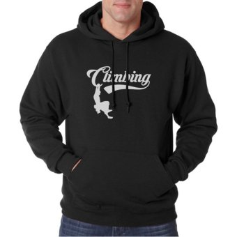 Indoclothing Hoodie Climbing - Hitam