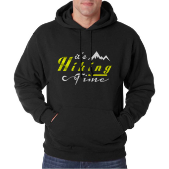Indoclothing Hoodie Hiking time - Hitam