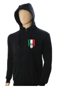 IndoClothing Zipper Hoodie Italy - Z01 - Hitam
