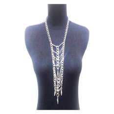 Istana Accessories Long Chain Fashion Necklace Collar