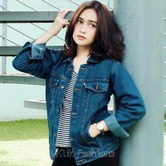 Jaket Jeans Denim Cewe Regular Biowash Best Seller