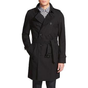 Jaket Kulit - Jaket Parka Style Fashion - Hitam