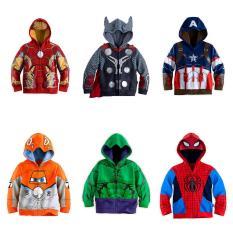 Jaket Sweater Anak Superhero