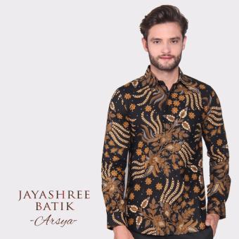 Jayashree Batik Kemeja Arsya Black Slimfit Long Sleeve Pria