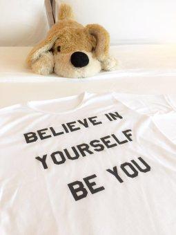 JCLOTHES Tumblr Tee / Kaos Cewe / Kaos Wanita Believe In Yourself - Putih