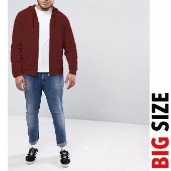 Jfashion Big Size Jaket Hoodie With Zipper - Vin Marun