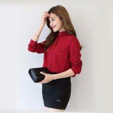 Jfashion Korean Style Plain Shirt Long SLeeve - Ummi Marun
