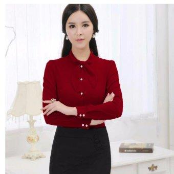 Aquinn Labelle Blazer Long Sleeve Ryan Black - Update Daftar Harga ... - Hush Puppies Esme. Source · Jfashion Korean Style Shirt With Syall - Kezia Marun