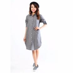 Jfashion Women's Tunik Long Sleeve Arumi - Abu tua