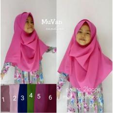 Jilbab Hijab Pastan 2face Anak Umur 4-7 Thn