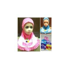 Jilbab Instan Anak /Baby Setangkai Bunga Cantik