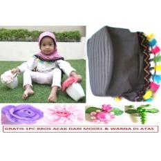 Jilbab/Hijab Instan Anak Lucu Imut Tassel Rumbai - Abu-Abu