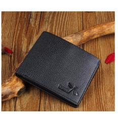 JK Dompet Pria Premium PU Leather - Black