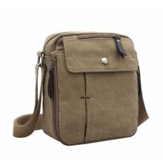 JK Vintage Canvas Messenger Bag - Brown