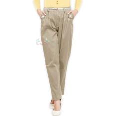 JO & NIC Dakota Relax Office Pants AllSize - Celana Wanita - Cream