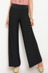 JO & NIC Jersey Wide Pants - Long Culottes - Hitam