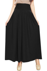 JO & NIC Pleated Flare Maxi Skirt - Rok Hijab - Fit up to Big Size - Black