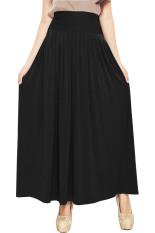 JO & NIC Pleated Flare Maxi Skirt - Rok Hijab - Fit up to Big Size - Black