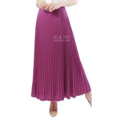 JO & NIC Pleated Long Skirts - Rok Panjang Lipit Fit to XL - Fuschia