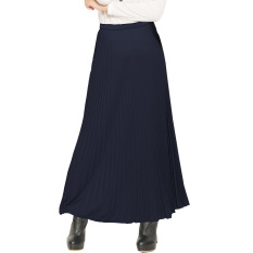 JO & NIC Pleated Long Skirts - Rok Panjang Lipit Fit to XL - Navy