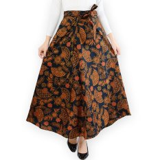 JO & NIC Rok Batik Lilit - Wrapped A-Line Long Skirt fit to Big Size