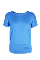 GE Hot Stylish Ladies Women Casual Loose Batwing Short Sleeve T-shirt Tops S-XL (Lake Blue)