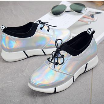 JOY Ladies Casual Shoes Silver