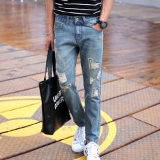 JOY Men's Casual Haren Jeans Light Blue - Intl