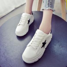 JOY White Platform Shoes Leisure Shoes Black