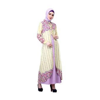 Jual Gamis / Busana Muslim Wanita | Inficlo - SHJ 037 | WARNA : KUNING KOMB | BAHAN : SIFON JERSEY