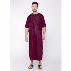 JUBAH ARABI - Pakaian Muslim Gamis Pria Al-Isra (Maroon)