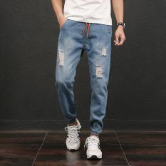 ... MM baru ukuran besar bordir angin nasional longgar celana jeans Dicuci biru Source