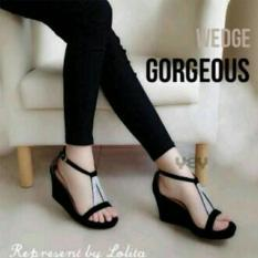 Kaluna Sepatu Wanita Wedges KL04 Black