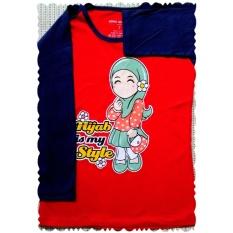 Kaos Anak Muslim - Hijab is My Style Red