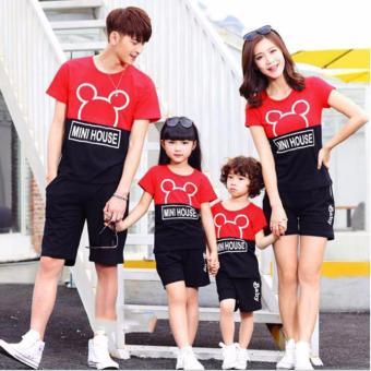 Kaos Baju Couple Family   Baju Keluarga 2 Anak   Kaos Keluarga