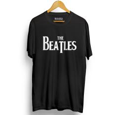 Kaos Distro The Beatles T-Shirt - Hitam