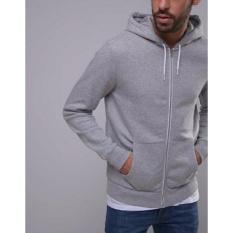 KaosBro - Jaket Hoodie Zipper Polos - Abu Misty - Unisex
