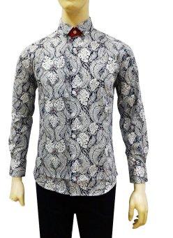 Kemeja Batik Slimfit Pria A8202 Kombinasi Muslim Koko Jeans