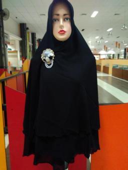 Inficlo Smr 556 Kerudung Jilbab Syari Wanita Spandek Cantik Hitam Source Source Kerudung .