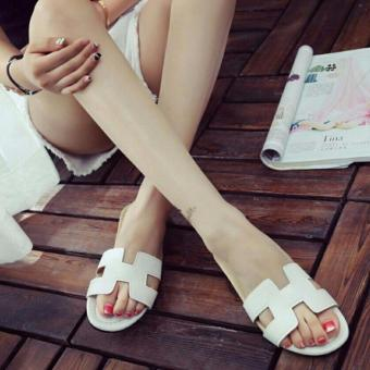 Khalista Collections Flats Sandal Loafers Flip Flops Casual Synthetis Leather - Putih